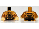 Part No: 973px160c02  Name: Torso SW C-3PO Pattern / Pearl Gold Arms / Pearl Light Gold Hands
