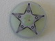 Part No: 2958pb034  Name: Technic, Disk 3 x 3 with 5-Bolt Star Pattern (Sticker) - Set 8647