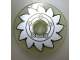Part No: 2958pb035  Name: Technic, Disk 3 x 3 with Silver Circular Saw Blade Pattern (Sticker) - Set 8648