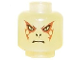 Part No: 3626bpx330b  Name: Minifigure, Head Alien with HP Voldemort Red Pattern - Blocked Open Stud