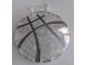 Part No: 18675pb15  Name: Dish 6 x 6 Inverted - No Studs with Handle with Rose Window Pattern Overlay with 4 Crossing Dark Bluish Gray Lines Pattern