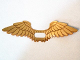 Part No: 20286b  Name: Minifigure, Wings Extended with Center Opening and  Gold Feathers Pattern