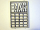 Part No: 2494pb01  Name: Glass for Window 1 x 4 x 5 with White 'BANK' Pattern (Sticker) - Set 6765