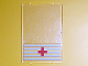 Part No: 2494pb02  Name: Glass for Window 1 x 4 x 5 with 5 White Stripes and Red Cross Pattern (Sticker) - Set 6380