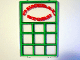 Part No: 2494pb04  Name: Glass for Window 1 x 4 x 5 with General Store Pattern (Sticker) - Set 6765