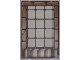 Part No: 2494pb06  Name: Glass for Window 1 x 4 x 5 with Brown Brick Border Pattern
