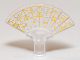 Part No: 27291pb01  Name: Minifigure, Utensil Hand Fan with Runes Pattern