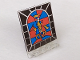 Part No: 30102px2  Name: Door 2 x 5 x 5 Swivel, Flat Base with Stained Glass Knight Pattern