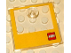 Part No: 31324bp01  Name: Duplo Doll Furniture Cabinet Door with Pull Knob with Yellow Border and Lego Logo Pattern (Oven Door)