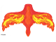 Part No: 38789  Name: Plastic Wings with Yellow and Orange Flames on Red Background Pattern