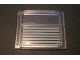 Part No: 4034pb01  Name: Glass for Train Window 1 x 4 x 3 with 7 Light Gray Stripes Pattern (Sticker) - Sets 4547 / 10002