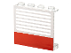 Part No: 4215ap01  Name: Panel 1 x 4 x 3 - Solid Studs with Red Stripe and White Stripes Pattern