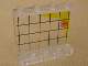 Part No: 4215bpb39  Name: Panel 1 x 4 x 3 - Hollow Studs with Black Grid, Yellow Coast Line and Red Circles Pattern (Sticker) - Set 7047