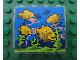 Part No: 4215pb068  Name: Panel 1 x 4 x 3 with Fish in Aquarium Pattern (Sticker) - Set 8160