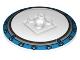 Part No: 44375bpb03  Name: Dish 6 x 6 Inverted (Radar) - Solid Studs with Medium Azure Border Pattern
