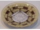 Part No: 44375bpb09  Name: Dish 6 x 6 Inverted (Radar) - Solid Studs with Vintage Compass Pattern