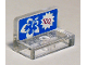 Part No: 4865pb064  Name: Panel 1 x 2 x 1 with White and Blue Flower and Pricing '100 on Blue Background Pattern (Sticker) - Set 41058