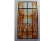 Part No: 57895pb007  Name: Glass for Window 1 x 4 x 6 with Black Bars and Flaming Skeletons Pattern (Sticker) - Set 4195