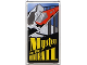 Part No: 57895pb016  Name: Glass for Window 1 x 4 x 6 with 'Mystery on the MONORAIL' Movie Poster Pattern Both Sides (Stickers) - Set 10232