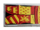 Part No: 57895pb055  Name: Glass for Window 1 x 4 x 6 with 'GRYFFINDOR' Red and Yellow Coat of Arms Banner Pattern (Sticker) - Set 75956