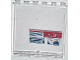 Part No: 59349pb067  Name: Panel 1 x 6 x 5 with 'ALERT' and Dark Blue Lines and Dots Pattern (Sticker) - Set 76007