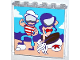 Part No: 59349pb124  Name: Panel 1 x 6 x 5 with Photo Prop Standee with Mermaid and Sailor Pattern (Sticker) - Set 41129