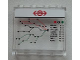 Part No: 60581pb049  Name: Panel 1 x 4 x 3 with Side Supports - Hollow Studs with Train Map and Schedule on Clear Background Pattern (Sticker) - Set 60051