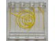 Part No: 60581pb100  Name: Panel 1 x 4 x 3 with Side Supports - Hollow Studs with Yellow Radar Circles and Lines Pattern (Sticker) - Set 7879