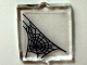 Part No: 60601pb002  Name: Glass for Window 1 x 2 x 2 with Spider Web in Lower Left Corner Pattern (Sticker) - Set 10228