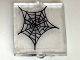 Part No: 60601pb003  Name: Glass for Window 1 x 2 x 2 with Spider Web Center Pattern (Sticker) - Set 10228
