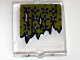 Part No: 60601pb005  Name: Glass for Window 1 x 2 x 2 with Torn Curtains with Holes Left and Center Pattern (Sticker) - Set 10228