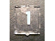 Part No: 60601pb006  Name: Glass for Window 1 x 2 x 2 with White Number 1 Pattern (Sticker) - Set 10233