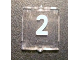 Part No: 60601pb007  Name: Glass for Window 1 x 2 x 2 with White Number 2 Pattern (Sticker) - Set 10233