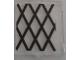 Part No: 60601pb014  Name: Glass for Window 1 x 2 x 2 with Black Lattice Pattern (Sticker) - Set 70810