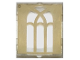 Part No: 60601pb017  Name: Glass for Window 1 x 2 x 2 with Arched Gold Window Pattern