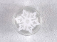 Part No: 98138pb104  Name: Tile, Round 1 x 1 with White Six Pointed Snowflake Pattern