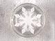 Part No: 98138pb105  Name: Tile, Round 1 x 1 with White Eight Pointed Snowflake Pattern