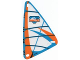 Part No: x772px2  Name: Plastic Triangle 9 x 15 Sail with Orange and Blue Arctic Pattern