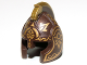 Part No: 10054pb02  Name: Minifigure, Headgear Helmet Castle with Cheek Protection and Comb with Gold Icons Pattern (King Theoden)