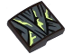 Part No: 15068pb051  Name: Slope, Curved 2 x 2 No Studs with Dark Bluish Gray Wrapping with Yellowish Green Stains Pattern (Sticker) - Set 70737