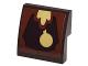 Part No: 15068pb076  Name: Slope, Curved 2 x 2 No Studs with Clock Pendulum Pattern (Sticker) - Set 41067
