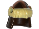 Part No: 17353pb001  Name: Minifigure, Headgear Helmet Barbarian with Tan Fur and Copper Markings Pattern