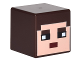 Part No: 19729pb014  Name: Minifigure, Head Modified Cube with Minecraft Skin 3 Pattern