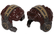 Part No: 35741pb01  Name: Minifig, Hair Male Tousled with Pearl Dark Gray and Dark Tan Headset with Microphone Pattern