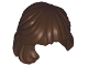 Part No: 36037  Name: Minifig, Hair Female Mid-Length Combed Behind Ear
