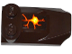 Part No: 47456pb014  Name: Brick, Modified 2 x 3 x 2/3 Two Studs, Wing End with Orange Cracks and Lava Pattern (Sticker) - Set 70321