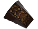 Part No: 47753pb065  Name: Wedge 4 x 4 No Top Studs with Black and Gold Exoskeleton Pattern (Sticker) - Set 70132