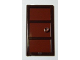 Part No: 60797c03  Name: Door 1 x 4 x 6 with Three Panes and Stud Handle with Reddish Brown Glass