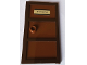 Part No: 60797c03pb01  Name: Door 1 x 4 x 6 with Three Panes and Stud Handle with Reddish Brown Glass and 'R. STANTZ' Pattern (Sticker) - Set 75827