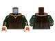 Part No: 973pb1282c01  Name: Torso LotR Tank Top over Dark Green Shirt Pattern / Dark Green Arms / Light Flesh Hands